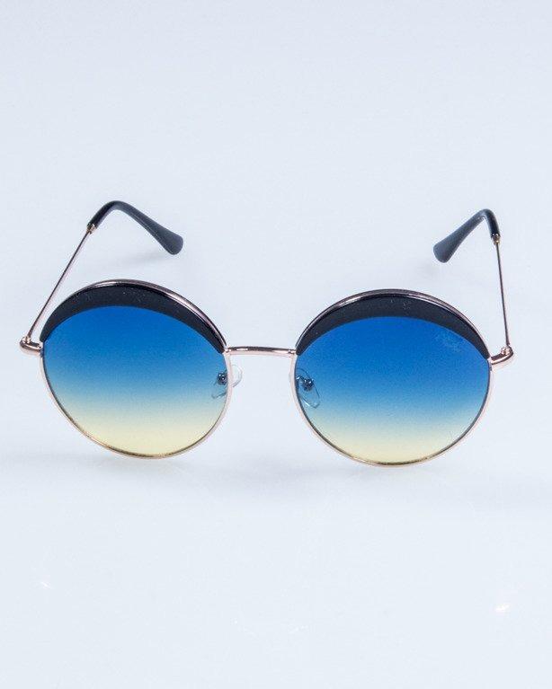OKULARY LADY COSMO GOLD-BLACK BLUE-YELLOW 702