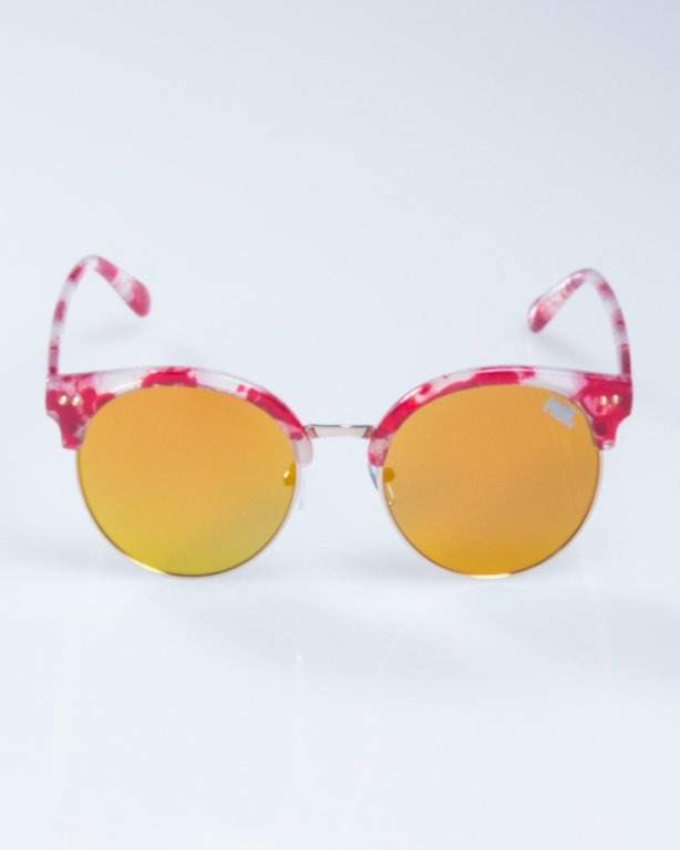 OKULARY LADY WILD SPOT RED YELLOW MIRROR 946