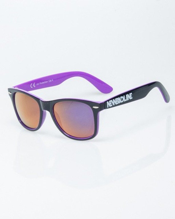 OKULARY CLASSIC INSIDE BLACK-VIOLET FLASH VIOLET MIRROR 1194