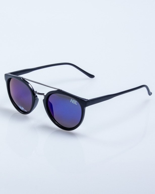 OKULARY LADY GLOW BLACK MAT BLUE MIRROR POLARIZED 528