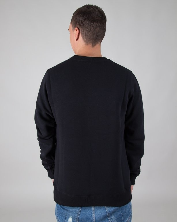 BLUZA BEZ KAPTURA ASS BLACK