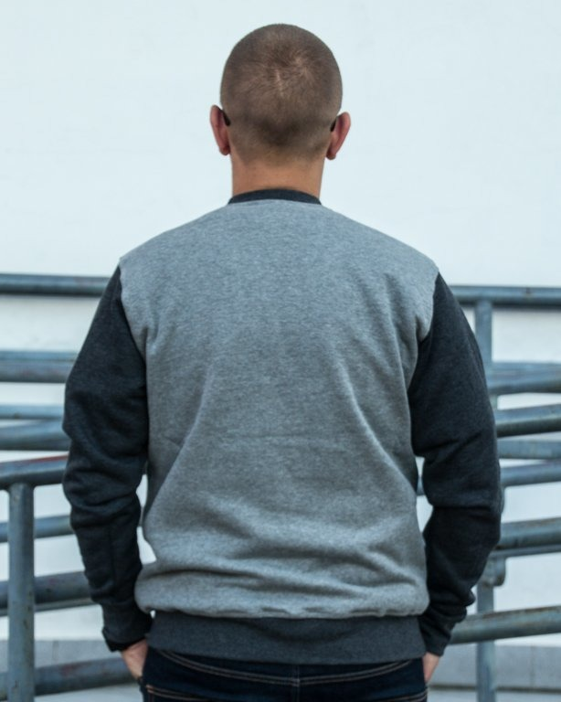BLUZA CREWNECK SHIELD GREY-BLACK