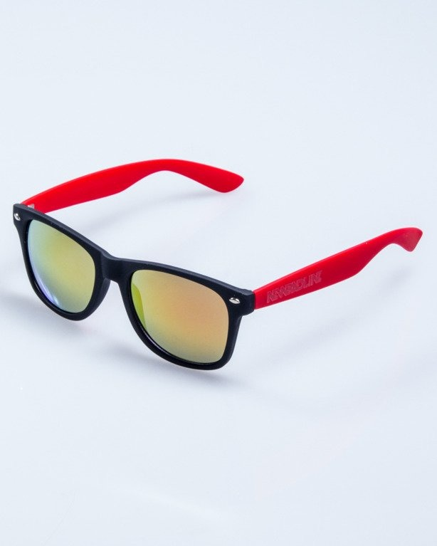 CLASSIC HALF BLACK-RED RUBBER RED MIRROR 557