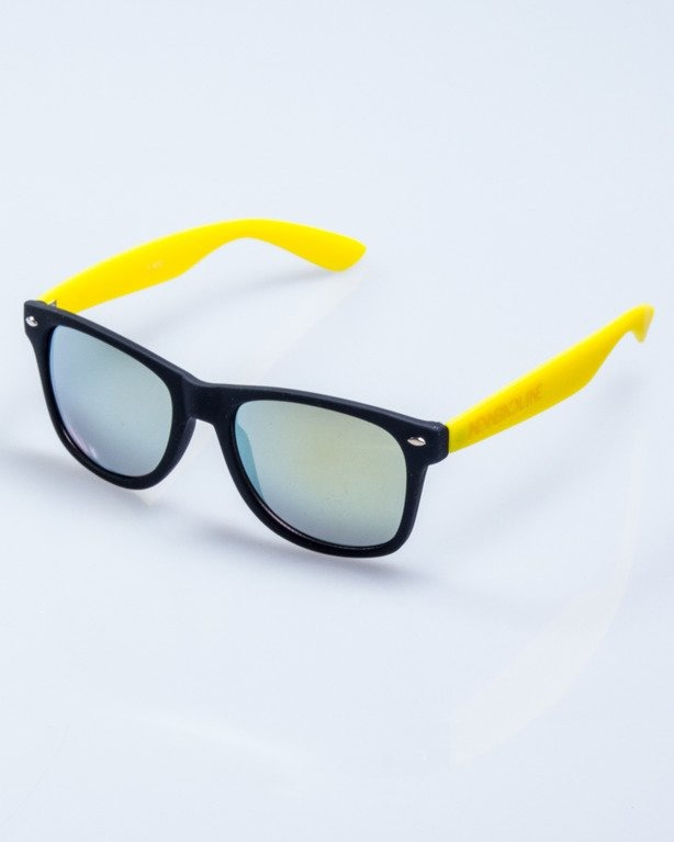 CLASSIC HALF BLACK-YELLOW RUBBER YELLOW MIRROR 556
