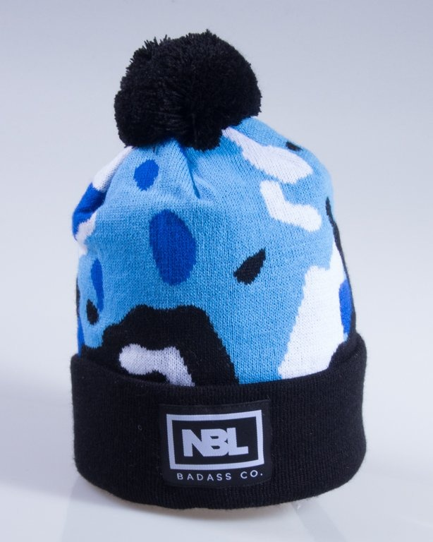 NEW BAD LINE CZAPKA ZIMOWA CAMO BLUE