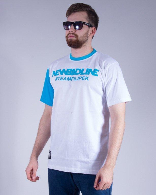 NEW BAD LINE KOSZULKA #TEAMFILIPEK WHITE-BLUE