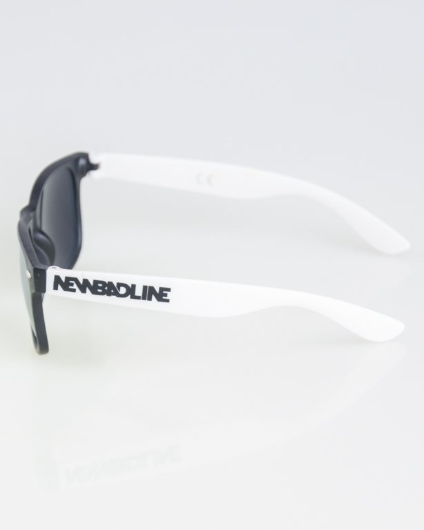 OKKULARY CLASSIC HALF BLACK-WHITE MAT SILVER MIRROR 1278