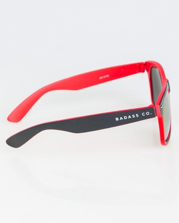 OKKULARY CLASSIC INSIDE BLACK-RED MAT RED MIRROR 1273