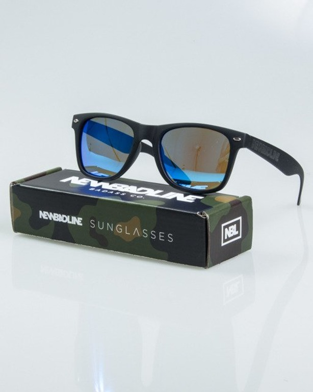 OKUALRY CLASSIC BLACK RUBBER BLUE MIRROR POLARIZED 1161