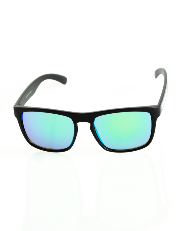 OKULARY AGENT BLACK MAT GREEN MIRROR 205