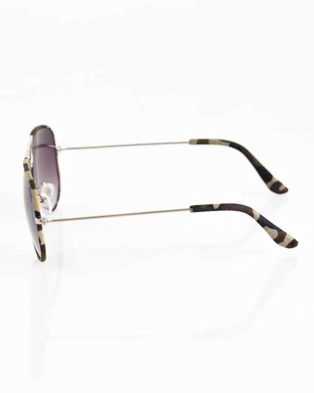 OKULARY AVIATOR CAMO SILVER-MORO GREEN BLACK TONAL 048
