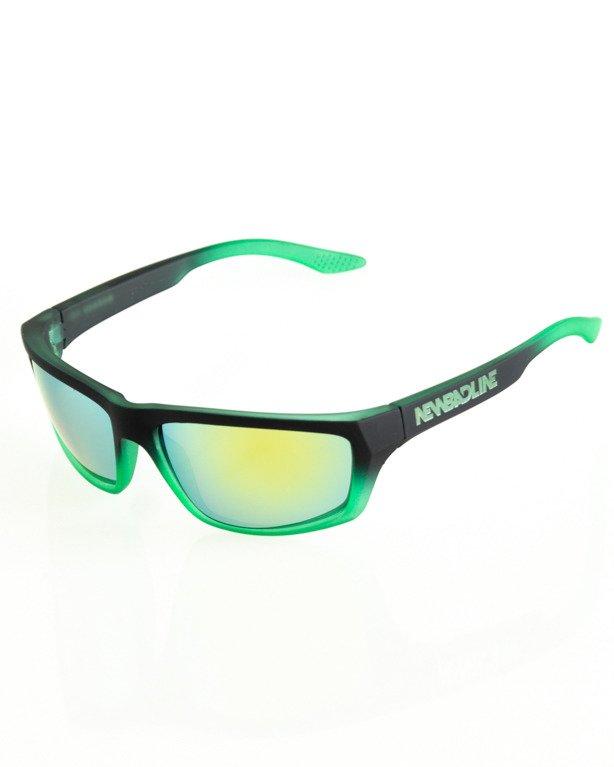 OKULARY BIKER BLACK-GREEN RUBBER YELLOW 119