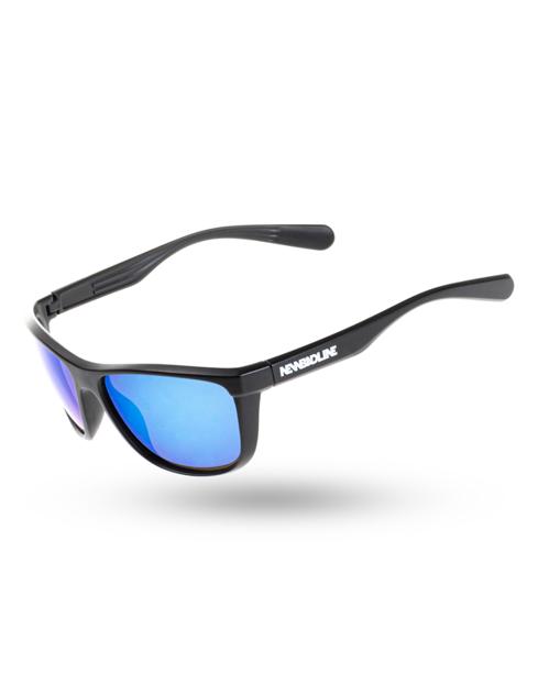 OKULARY BLAZE BLACK MAT BLUE MIRROR 00-123