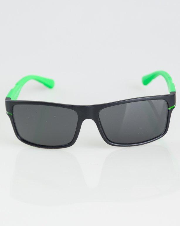 OKULARY BLOOM BLACK-GREEN MAT BLACK 1297