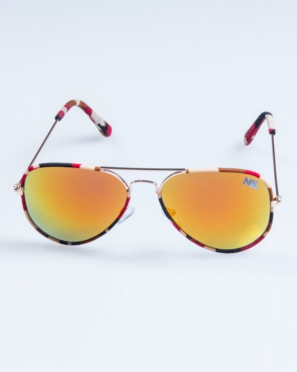 OKULARY CAMO METAL GOLD-RED RED MIRROR 691