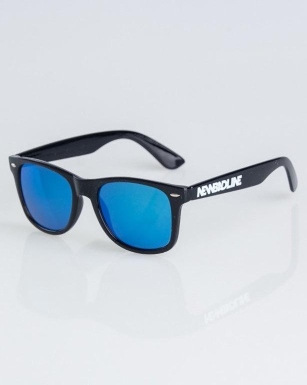OKULARY CLASSIC BLACK FLASH BLUE MIRROR 1320