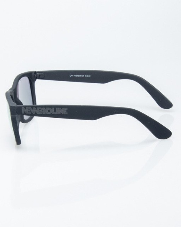 OKULARY CLASSIC BLACK RUBBER PINK MIRROR 1190