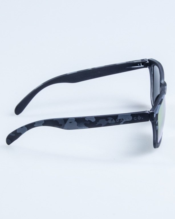 OKULARY CLASSIC CAMO BLACK RUBBER RED MIRROR 683