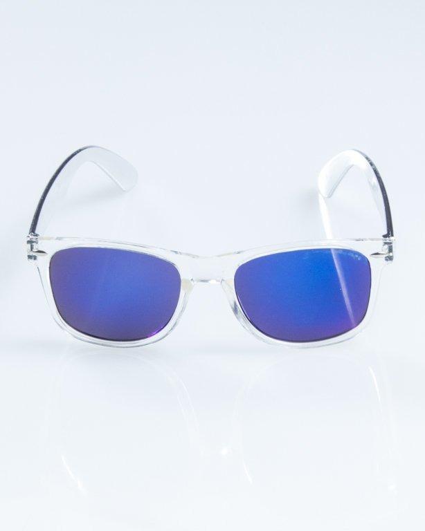 OKULARY CLASSIC CLEAR INOX BLUE MIRROR 854
