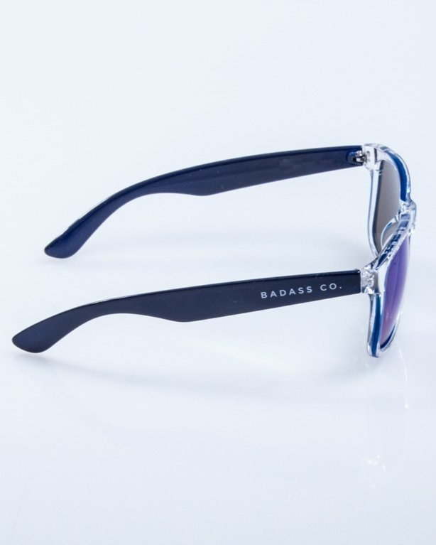 OKULARY CLASSIC CLEAR NAVY FLASH BLUE MIRROR 536