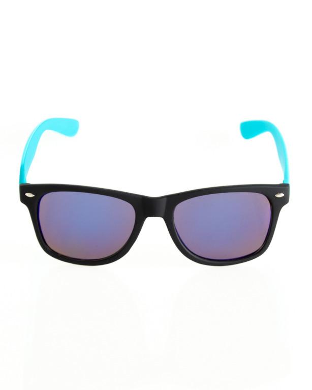 OKULARY CLASSIC HALF BLACK-BLUE RUBBER BLUE 113