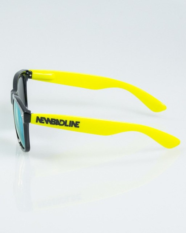 OKULARY CLASSIC HALF BLACK-TOXIC FLASH YELLOW MIRROR 1173
