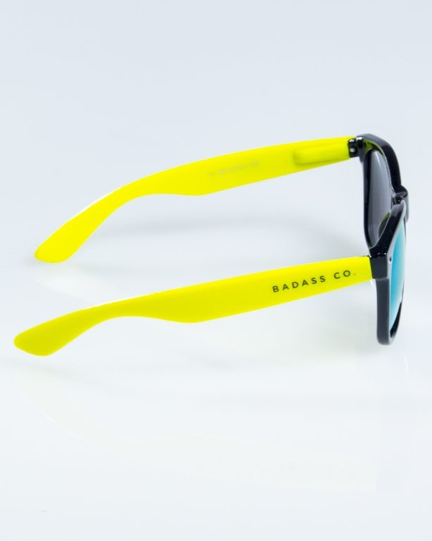 OKULARY CLASSIC HALF  BLACK-TOXIC FLASH YELLOW MIRROR 841