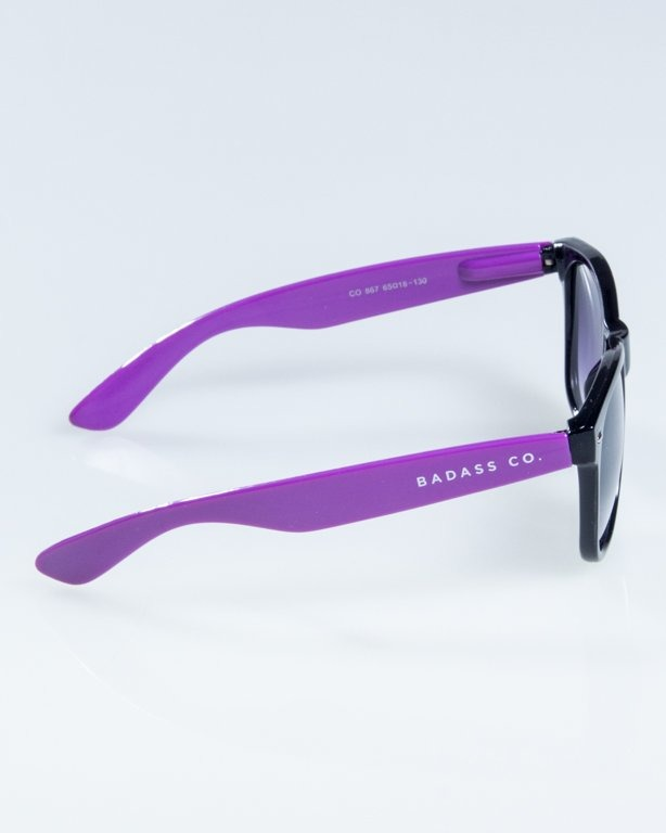 OKULARY CLASSIC HALF  BLACK-VIOLET FLASH BLACK HALF 837