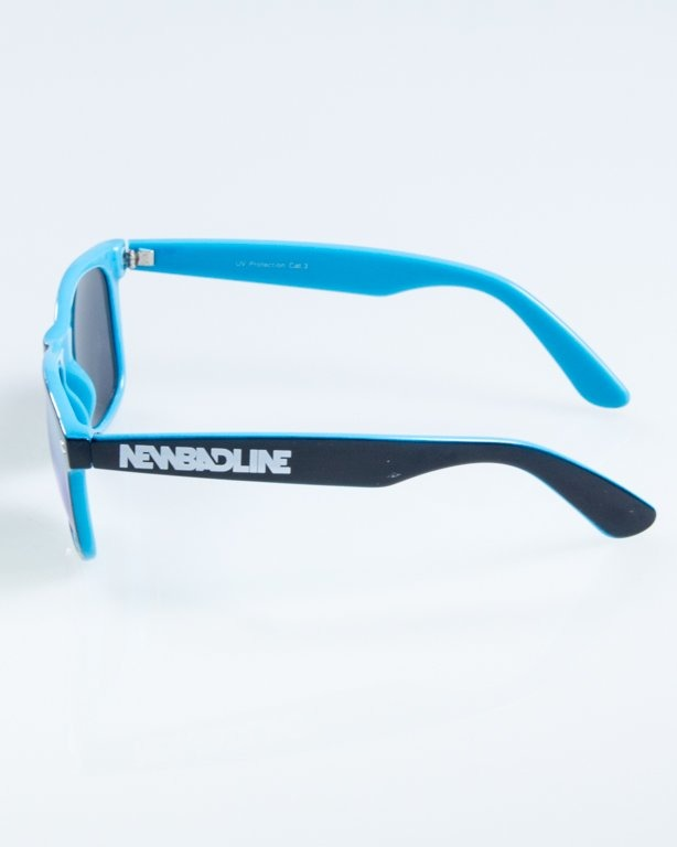 OKULARY CLASSIC INSIDE BLACK-BLUE FLASH RED MIRROR 865