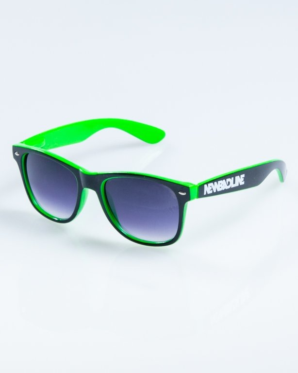 OKULARY CLASSIC INSIDE BLACK-GREEN FLASH BLACK HALF 848