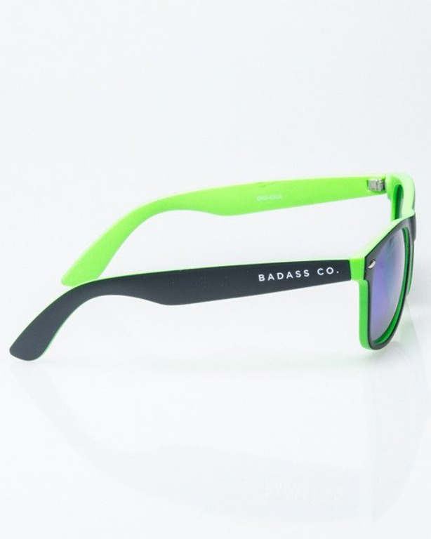 OKULARY CLASSIC INSIDE BLACK-GREEN MAT GREEN MIRROR POLARIZED 1185