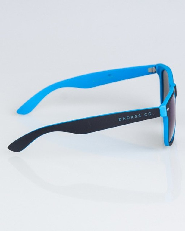 OKULARY CLASSIC INSIDE BLACK-LIGHT BLUE RUBBER BLUE MIRROR 1325