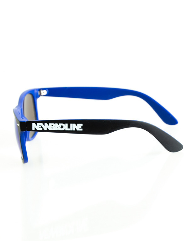 OKULARY CLASSIC INSIDE BLACK-NAVY MAT BLUE MIRROR 148