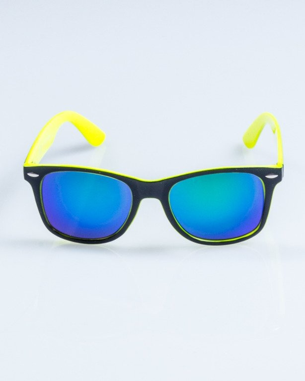 OKULARY CLASSIC INSIDE BLACK-NEON FLASH GREEN MIRROR 745