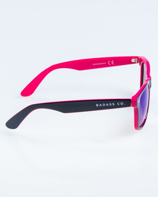 OKULARY CLASSIC INSIDE BLACK-PINK FLASH BLUE MIRROR 867