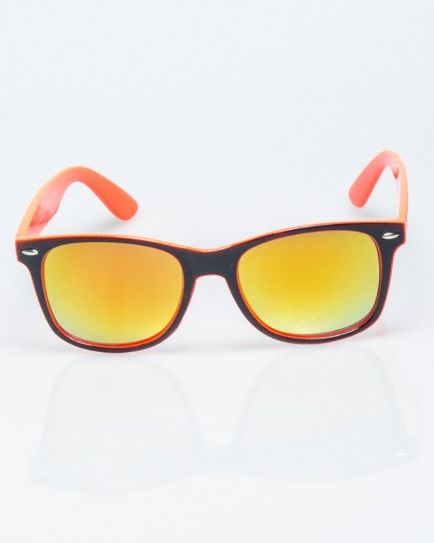 OKULARY CLASSIC INSIDE BLACK-PINK FLASH YELLOW MIRROR 1198