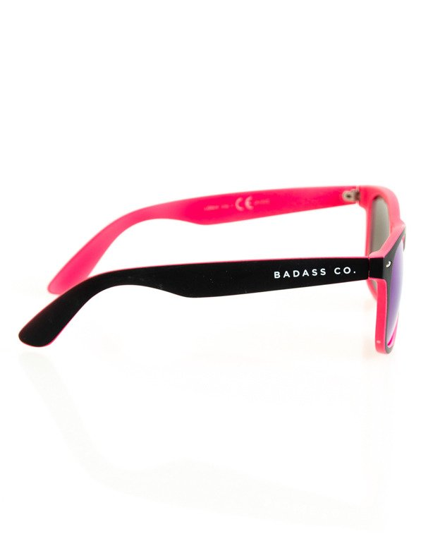 OKULARY CLASSIC INSIDE BLACK-PINK MAT BLUE MIRROR 145