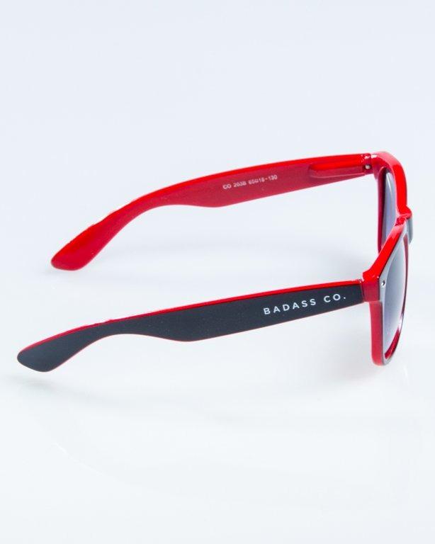 OKULARY CLASSIC INSIDE BLACK-RED FLASH BLACK HALF 852
