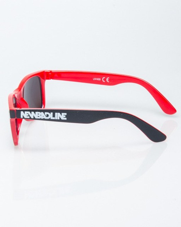 OKULARY CLASSIC INSIDE BLACK-RED FLASH GREEN MIRROR 1196