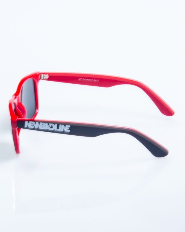 OKULARY CLASSIC INSIDE BLACK-RED FLASH RED MIRROR 824