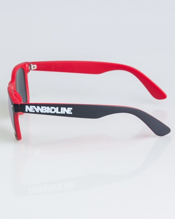 OKULARY CLASSIC INSIDE BLACK-RED MAT RED MIRROR 1334