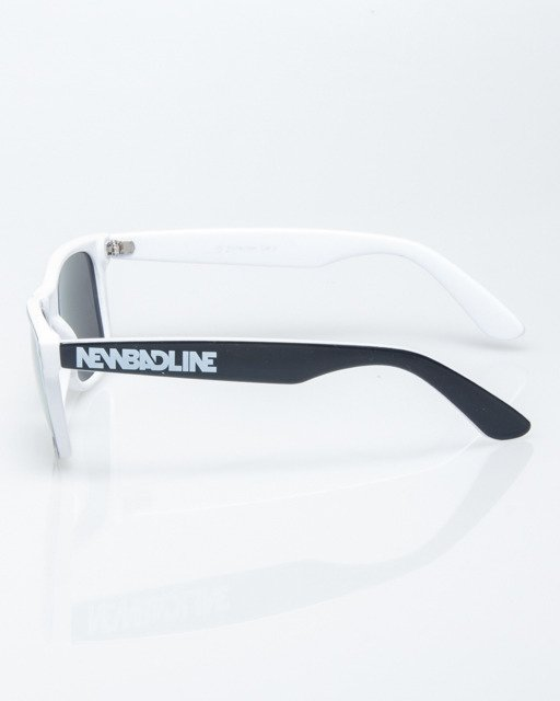 OKULARY CLASSIC INSIDE BLACK-WHITE FLASH YELLOW MIRROR 1208