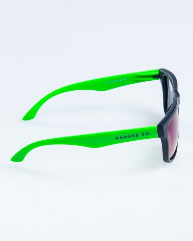 OKULARY CLASSIC MODERN HALF MAT BLACK-GREEN GREEN MIRROR 862