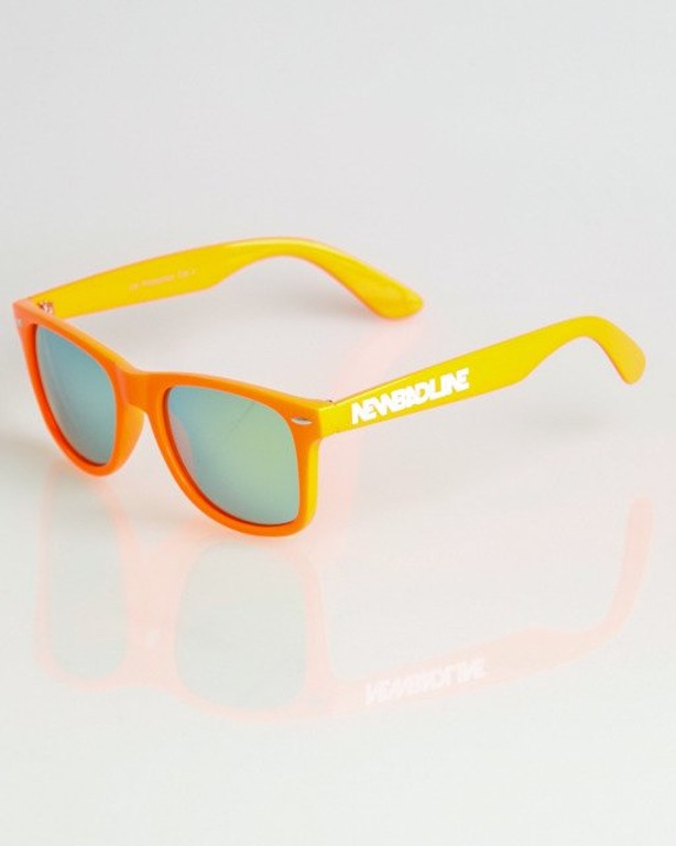 OKULARY CLASSIC ORANGE FLASH YELLOW MIRROR 1342
