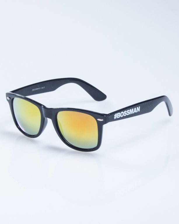 OKULARY CLASSIC RETO BLACK FLASH YELLOW MIRROR 924