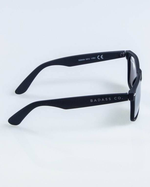 OKULARY CLASSIC RUBBER BLACK GREY MIRROR 908