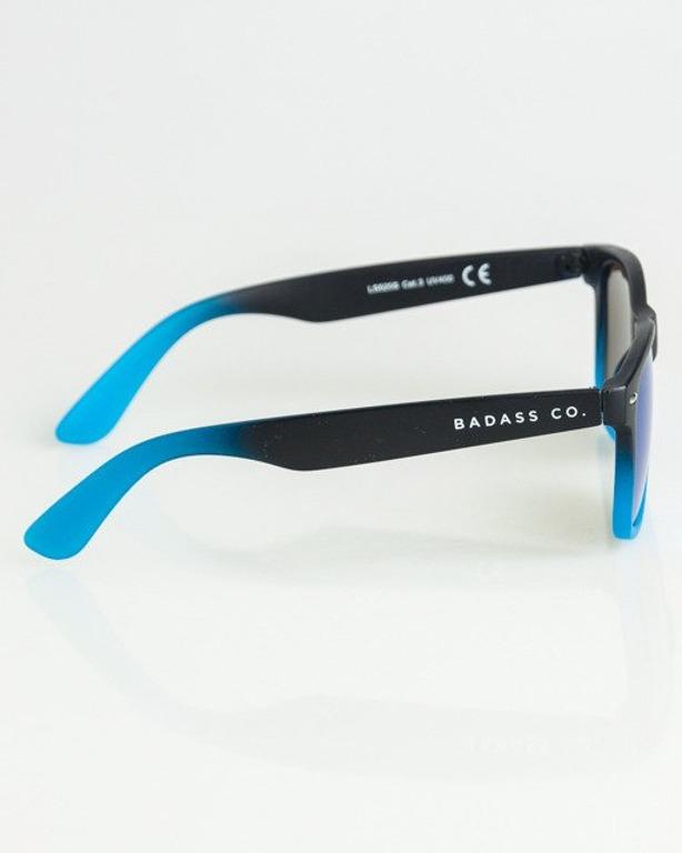 OKULARY CLASSIC TONAL BLACK-BLUE MAT BLUE 1349