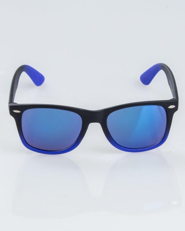 OKULARY CLASSIC TONAL BLACK-NAVY MAT BLUE MIRROR 1233