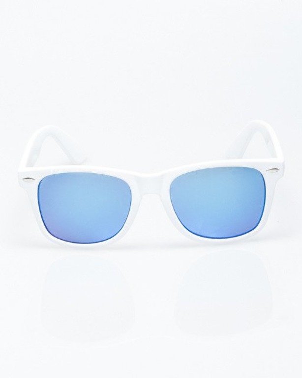 OKULARY CLASSIC WHITE FLASH BLUE MIRROR 1204
