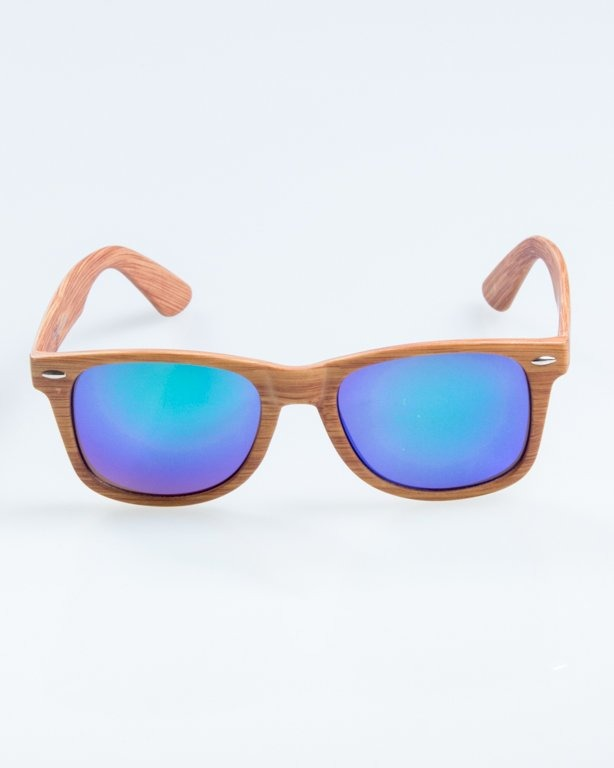 OKULARY CLASSIC WOODY BROWN 1 GREEN MIRROR 890